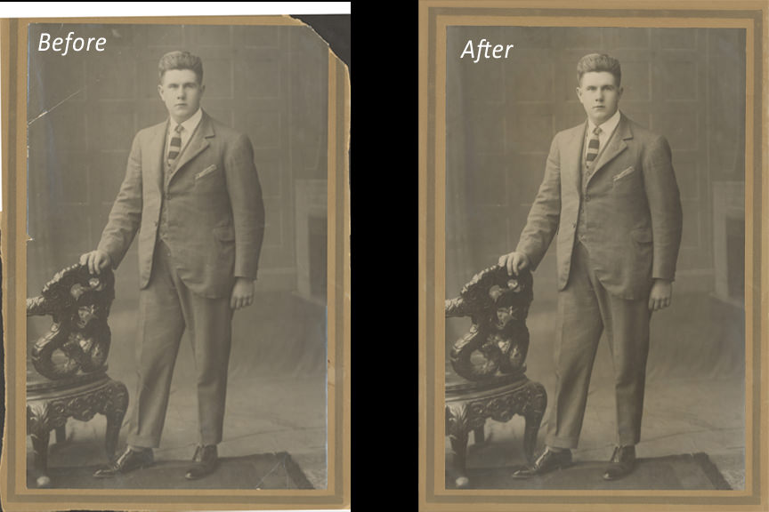 Retouch & restoration - Paul Tuthill Photography